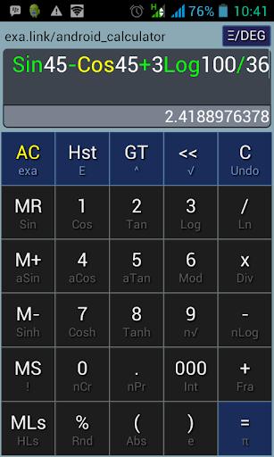 Exa Calculator