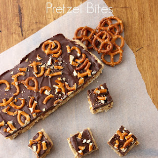 Sweet & Salty Peanut Butter Chocolate Pretzel Bars.