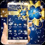 App Golden Blue Flower Deluxe Gold APK for Windows Phone