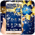 Golden Blue Flower Deluxe gold icon