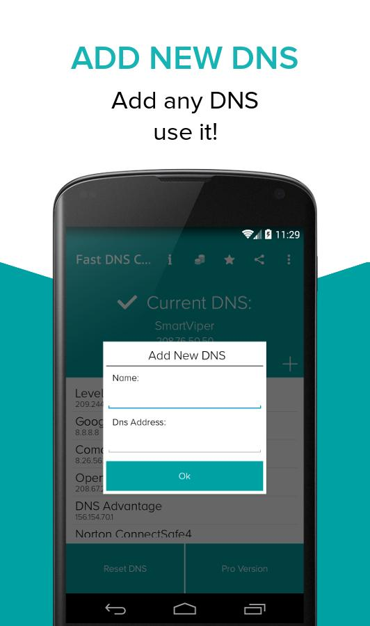 how to change to google dns on android