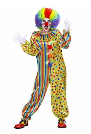 Clowndräkt Prickig, vuxen