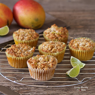 Mango Muffins with Coconut-Lime Streusel (Paleo, Gluten-free).