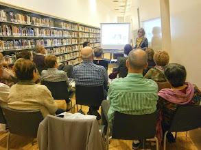Photo: Josep Pla, a la biblioteca de Tortosa