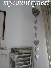 Photo: ghirlanda di cuori di lino