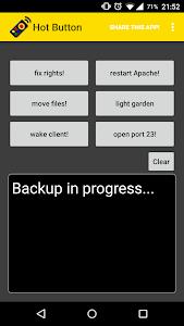 Hot Button  SSH Command Widget screenshot 0