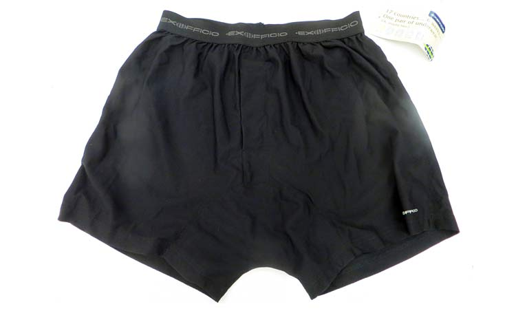 Quick-dry boxers from Ex-Officio can be rinsed out and worn again in just a few hours.