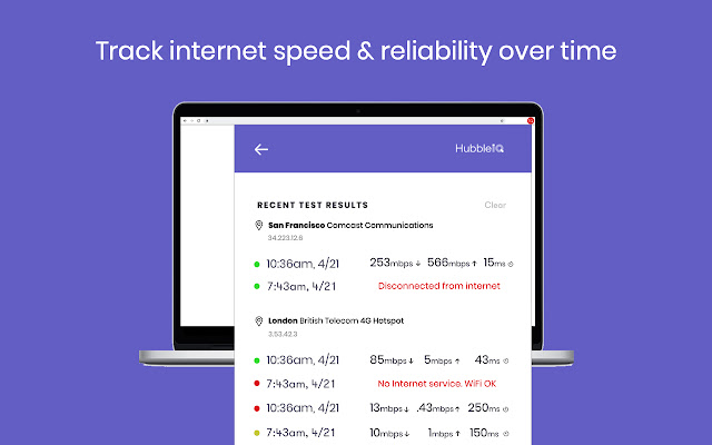 Wifi Performance Outage And Speed Test