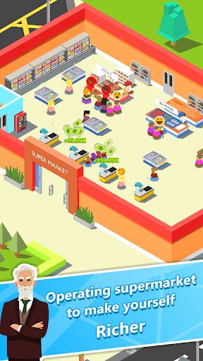 Code Triche Idle Merge Market - Merge Supermarket in street APK MOD screenshots 1
