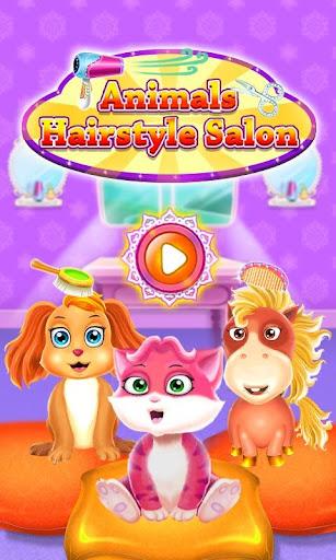 髮型沙龍動物遊戲