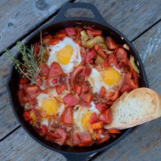 Tomato Pepper and Egg Breakfast Skillet