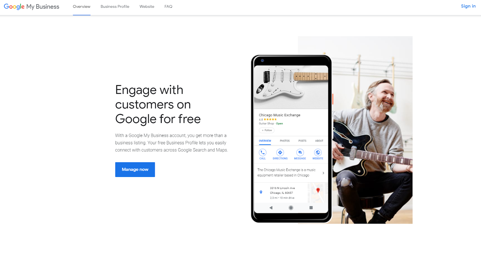 Google My Business landing pages