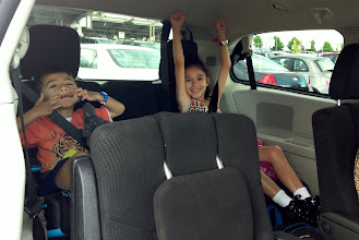 """Photo: They liked to sing """"Baby Shark"""" and """"Drama Llama"""". Other activities included singing, I Spy and guessing games. I-90 wasn't busy enough for the license plate game. Oh, and Minecraft on the iPad and Lego Star Wars DS."""