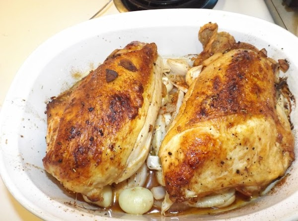 Bake for 25-30 minutes depending on the size of the chicken. Allow the meat...