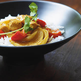 Chicken Curry with Red Peppers and Coconut Milk.