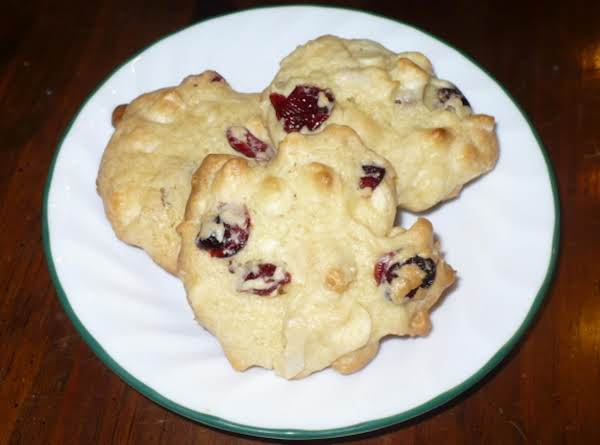 Vanilla Cake With Cranberries, White Chocolate Chips And Almonds.