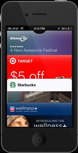 메타포의 활용, iOS 6의 passbook
