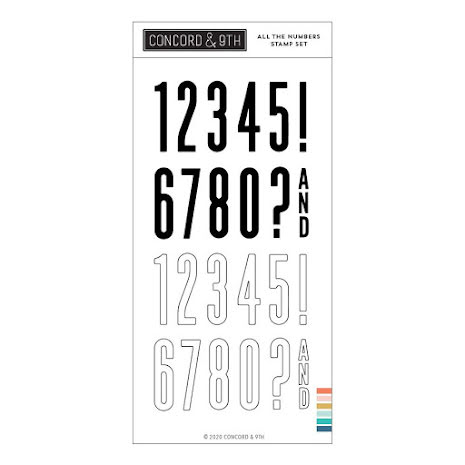 Concord & 9th Clear Stamps 4X8 - All the Numbers