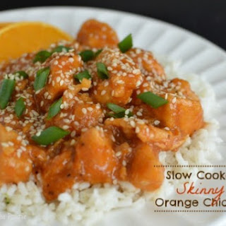 Slow Cooker Skinny Orange Chicken (So Easy)