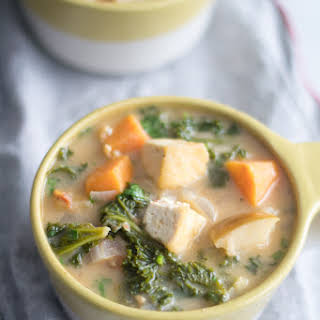 Tofu Sweet Potato and Almond Butter Stew.