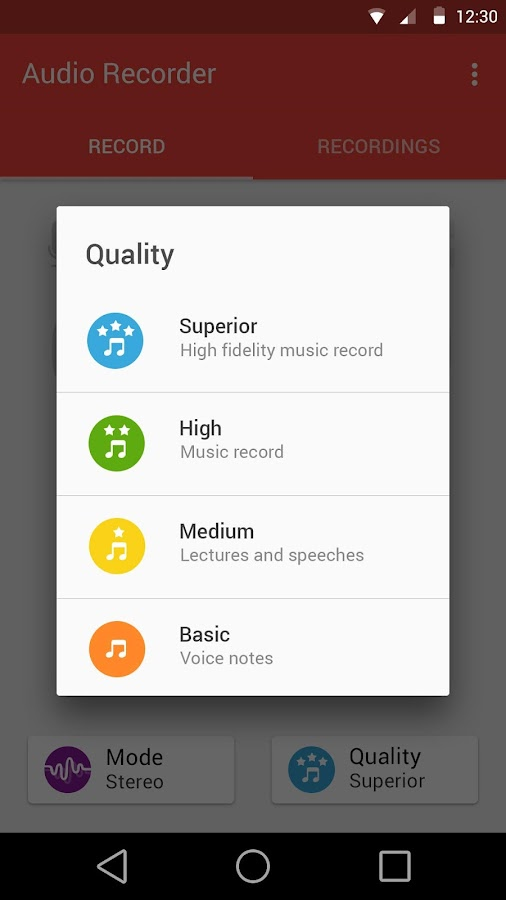 Audio Recorder- screenshot
