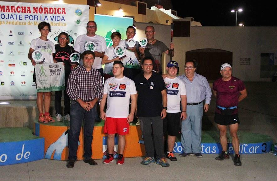 Uno de los podios de la Copa de Andalucía.