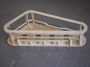 Photo: plywood structure for slingshot