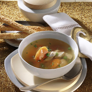 Chicken Soup with Carrots and Peas
