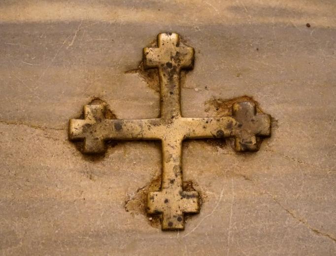 The crucifix at the staircase./EWTN