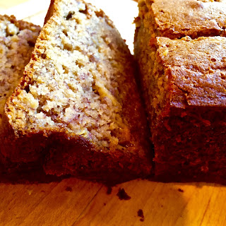 Warm, Gooey, Crumbly Sour Cream Banana Bread (Gluten-Free, of course!)