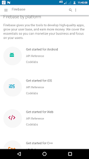 Firebase console mobile app - náhled