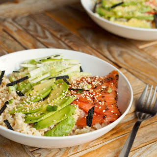 Japanese Salmon Avocado Rice Bowls Recipe