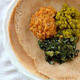 Vegan Ethiopian Trio W/ Quick Injera
