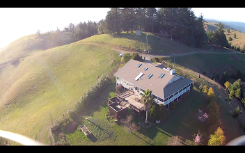 Photo: A little fun flying around King Ridge this afternoon...