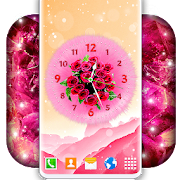 Analog Clock Themes \ud83c\udf3a Girly 4K Live Wallpaper