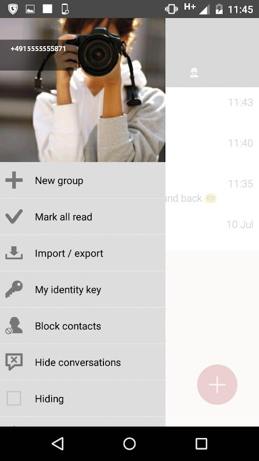 G DATA SECURE CHAT- screenshot