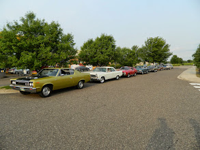 Photo: Getting lined up at our hotel to go to the Car Craft Nationals show at the State Fair Grounds