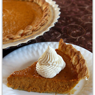 Sugar & Spice Pumpkin Pie with Brandied Ginger Cream