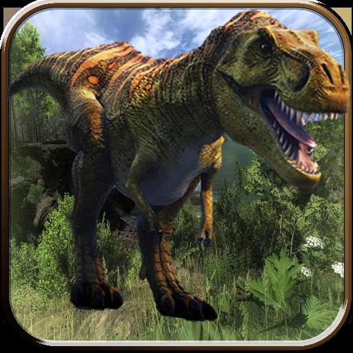 ジャングル 恐竜 ハンター 3D 動作 LOGO-玩APPs