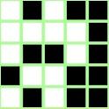 Blocks: white and black icon