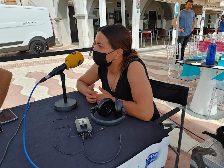 Blanca Díez, responsable de restaurante Pa\' Levante, en el set de La SER