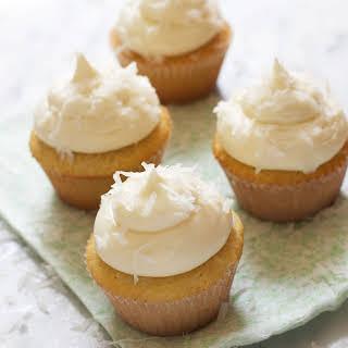 Creamy Coconut Cupcakes.