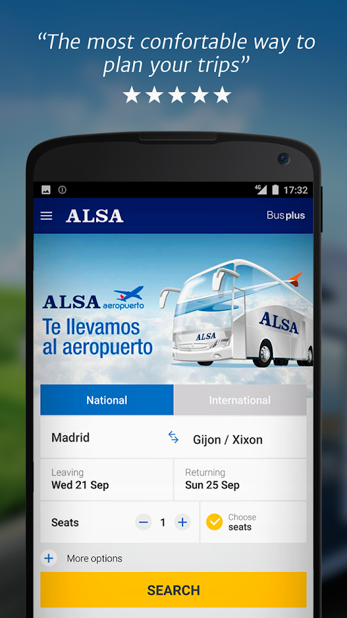 ALSA: buy your bus tickets- screenshot