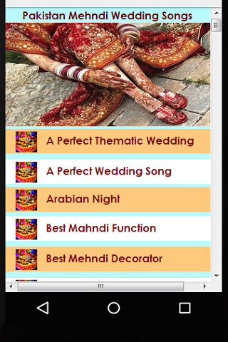 Pakistani Mehndi Wedding Songs Screenshot