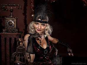 Photo: Come and play, if not afraid :-) Another shot of +Genia Larionovafrom Photigy Halloween party. BTS is here: http://www.photigy.com/setup-studio-photography-lighting-halloween/ Like it? Then share and play:-)  P.S I am such a lucky guy!