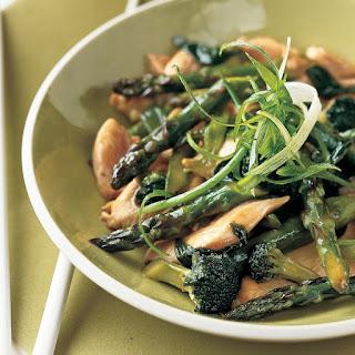 Chicken, Asparagus, and Broccoli Stir-Fry