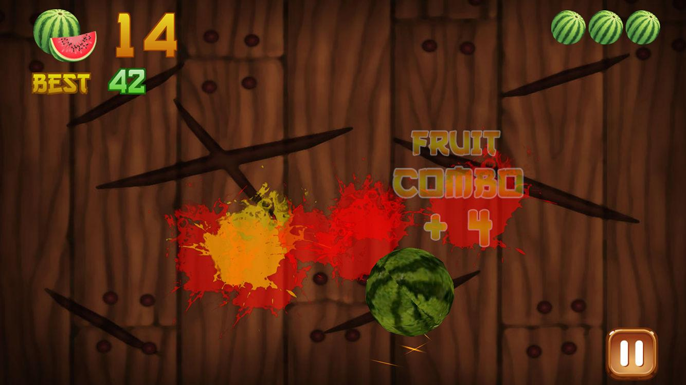 Screenshots of Fruit cut mini free for iPhone