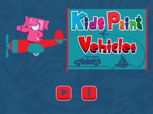 Kids Paint Vehicles