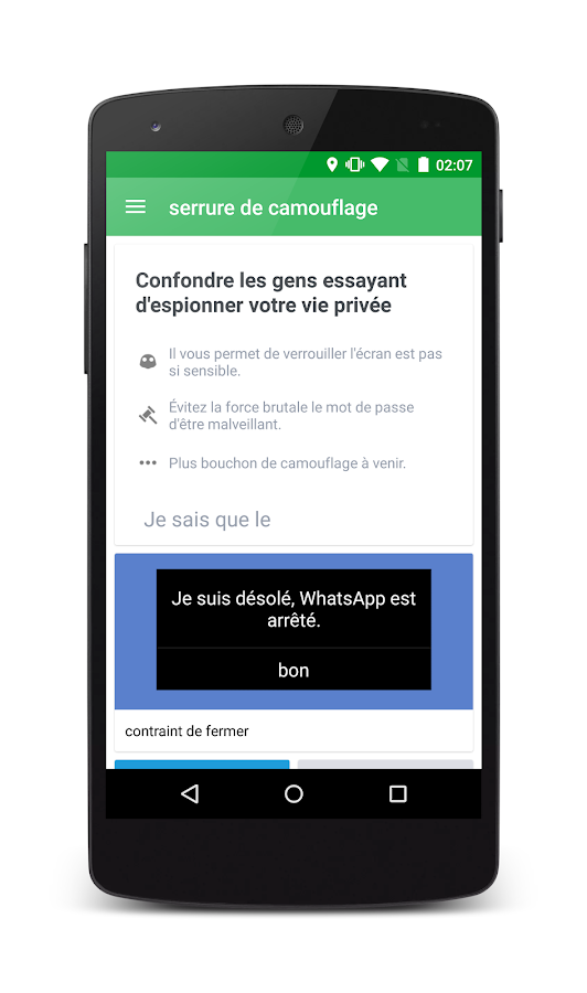 Whats Messenger clé – Capture d'écran