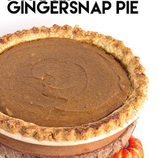 Pumpkin Gingersnap Pie